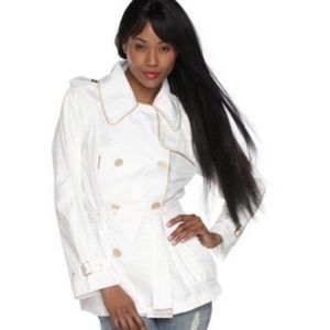 Rachel Zoe • White Trench Style Rain Jacket